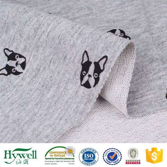 100% Cotton French Loop Terry Fabric for Hoodie