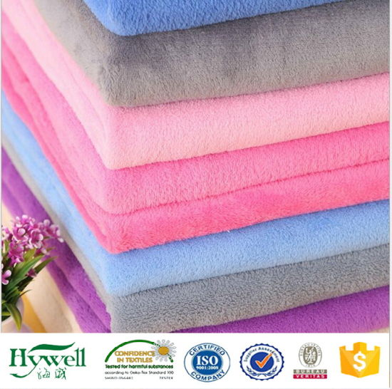 2017 Hotsale Polyester Coral Fleece Fabric