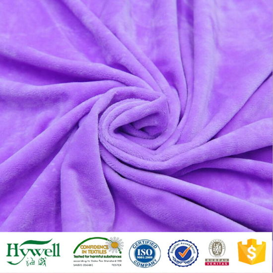 Polyester Velboa Fabric Made in China