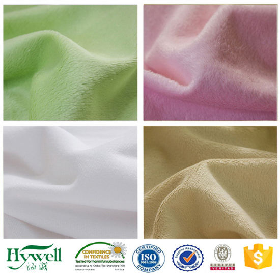 Knitting Super Soft Micro Velboa Brushed Fabric for Toys and Sleepwear