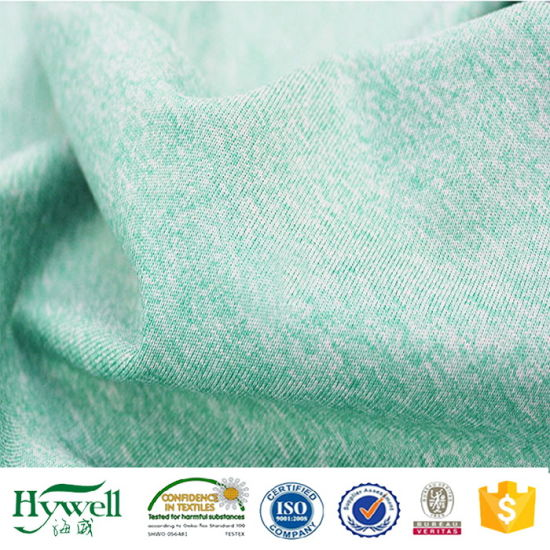 Polyester Spandex Melange Stretch Jersey Knit Fabric