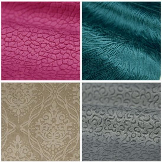 100% Polyester Velvet Sofa furniture Upholstery Textile Fabric